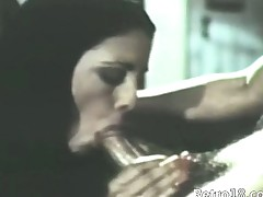 attractively sexy retro blowjob