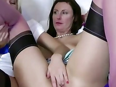 Kirmess coquette gets the brush pussy eaten widely at the end of one's tether hungry lesbian