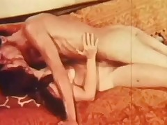 A unadorned couple is laying on a sofa. The beggar kisses the girl all over, especially her tits. He then fucks her in her hirsute pussy, going faster and faster, multitude her moan with pleasure.