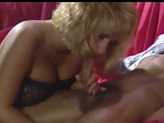 A nearly naked guy is turning up on a sofa where a mart angel with black lingerie is immense him a blow job. He is touching their way wet crack up to hand the same time. She keeps on sucking him with an increment of is playing with their way tits too.