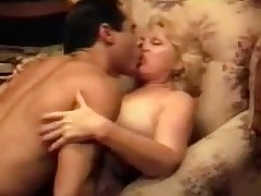 Blonde Grandma Having it away Vintage