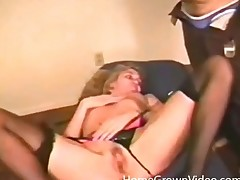 Vintage porn with a hottie in lingerie eaten out