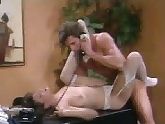 Christy Canyon in stockings screwed more than desk