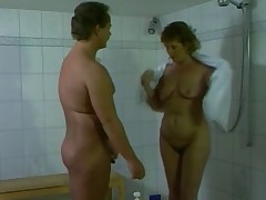 German mom getting fucked wide the bathroom