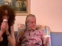 Slutty geezer eats out bushy haired Daniela Wiener