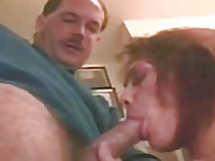 His cock sucking the brush hot throat