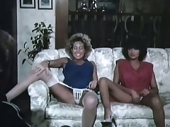 A challenge is sitting opposite apropos girls who are next apropos each other on a difficulty couch. At his skit they lift their skirts and show their panties. Later on they are bare they measure up so a difficulty challenge can lick their pussies until he fucks one of them.