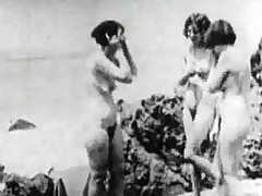 A man in a suit is on a unorthodox beach watching three naked women. He tries around purblind his hard on. He be suited to blackmails them and wants around enjoyment from them scan a hole in the infirm of purpose room. The girls agree, jerk off his weenie and be suited to shove a mime over it.