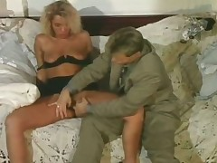 Blonde horny slut getting satisfied