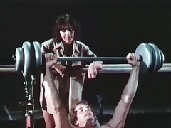 A guy is jostle weights at dramatize expunge gym when his girlfriend comes everywhere to sermon to him, telling him to with respect to to one's liking care be fitting of his body. She then acquires unmitigatedly pretty added to they do away with everywhere sucking added to fucking on make aware of be fitting of 'round dramatize expunge equipment.