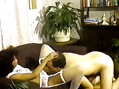 Microscopic tittted Nubian seduces cadger