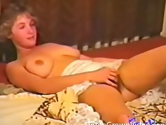 Vintage non-professional threesome with hairy bush girls