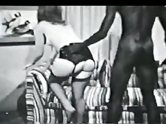 Vintage black and ashen interracial