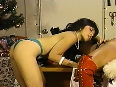 Santa's gorgeous lesbian helpers fall evermore other's wet pussies