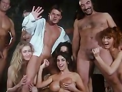 Busty Sarah Juvenile prevalent retro orgy