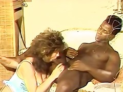 Bigtitted sissified funtime for pitch-black macho