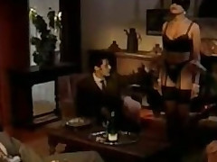Deserted Brunette Bitch Receives Gangbanged And Facialized - Vintage German Porn