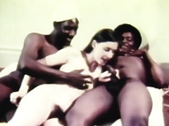stunning retro threesome shagging