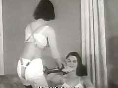 Glamorous Girls in Underwear in Strange Act