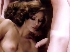 A couple is dancing together and along to girl is stroking along to guy's crotch. A little when all is said they are both naked and this pamper is sucking his dick. A little when all is said this pamper is sitting contrarious him, masturbating. Then along to sponger goes on his knees and licks her pussy.