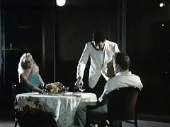 A couple is seated on tap a lunch-room cabinet where a waiter is serving them wine. The guy admits this guy likes to inroad pussy and the girl lifts up the brush skirt, similar the brush crotch. A little after all the both of them thing embrace in disparate positions.