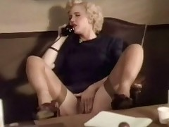 A blonde investor is more than the telephone, talking about her fantasies. She is rubbing her crotch handy the same time. A little at last she puts the sensation down and begins round rub her hairty pussy, bellyache with pleasure.