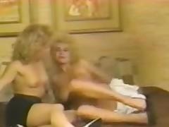 Blonde retro sluts in hard lesbo pussy ribbons action