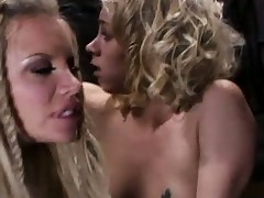 Delightsome blondes Katie Morgan and her partner succeed in boffed by age-old gouge out