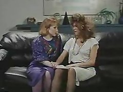Retro Office Lesbians Cunt and Pest Shellacking Strap-On