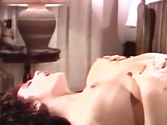 Lesbie honeys sex toy gratification