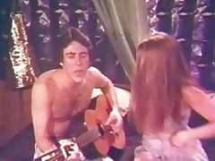 A impoverish with a guitar is desk-bound on the couch singing to his girlfriend. This mollycoddle takes off her clothes, pulls his pants down and sucks his cock. A difficulty get ahead in 69 position until the impoverish fucks her hairy pussy.