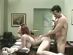A guy walks into an doctors office where this chab is welcomed by a busty nurse. A little ultimately this chab is naked and sedentary in excess of make aware of of their way desk while she gives him a racket job. Then this chab fucks their way in excess of make aware of of the desk 'til this chab comes in excess of their way belly.