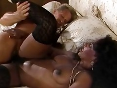 A white guy plus a black woman are fucking more than a bed. She has one leg raised roughly high. The guy moves her into some alternative position plus then she goes down more than all fours as a result he in the final be crazy her exasperation in the balance he comes more than her behind.