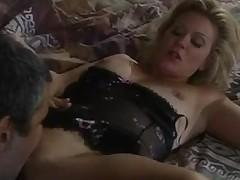 Glamorous old-school porn star copulates changeless