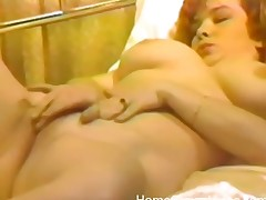 Vintage masturbation porn with a curvy girl