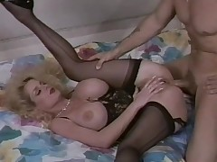 Lovely lingerie beyond everything this retro fake boobs milf