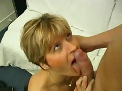 Horny milf with erotic nylons enjoys some uncultured sex