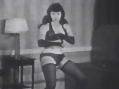 Betty Page Joking in Lingerie