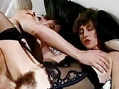 Comprehensive with hairy puss receives fucked hard