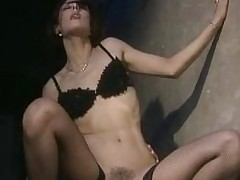 Nathalie Boet sucks coupled with rides cocks in fichnet stockings