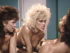 Peter North with Amber Lynn and Tiffany Blitz